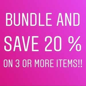 Other - BUNDLE 3 OR MORE ITEMS & AUTOMATICALLY SAVE 20%!!
